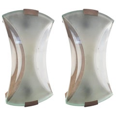 Pair of Model 2225 Sconces by Max Ingrand for Fontana Arte