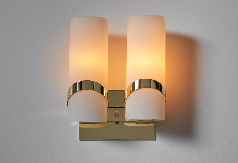 Mid-Century Modern Pair of Italian Sconces For Sale