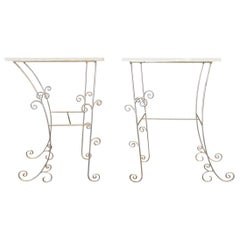 Pair of Italian Scrolling Console Tables