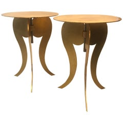Pair of Italian Side Tables by Sergio Terzani