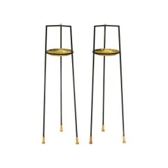 Pair of Italian Side Tables by Vittorio Morasso for Mopa, 1950s