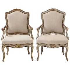 Pair of Italian Silver and Gilt Chairs