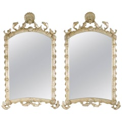 Pair of Italian Silvered Mirrors