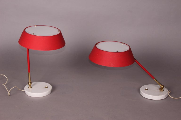 Pair of Italian Table Lamp In Good Condition For Sale In Meyrin, CH