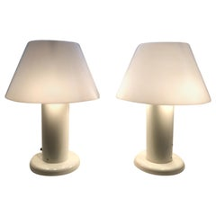 Pair of Italian Table Lamps by I. Guzzini, circa 1960