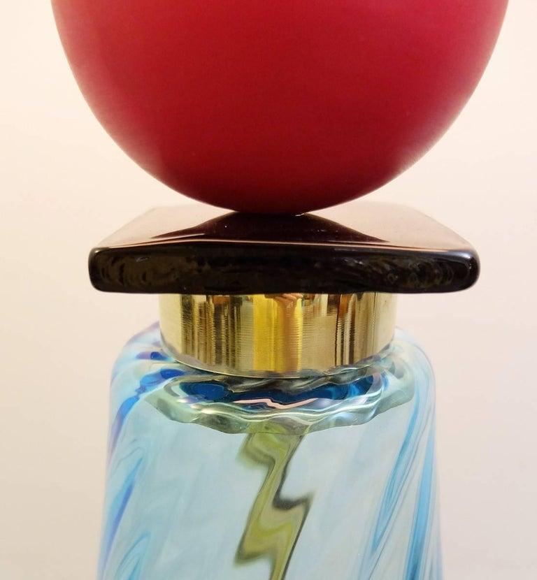 Organic Modern an Italian Table Lamp in Murano Glass For Sale