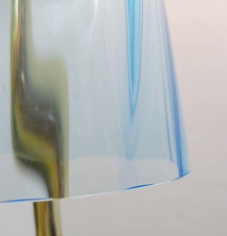 Contemporary an Italian Table Lamp in Murano Glass For Sale
