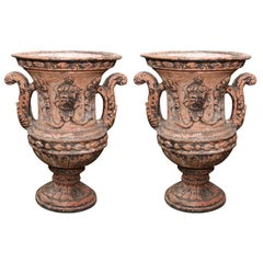 Pair of Italian Terra Cotta Urns