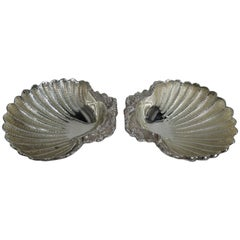 Pair of Italian Traditional Silver Scallop Shells
