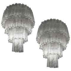 Pair of Italian Tronchi Chandeliers
