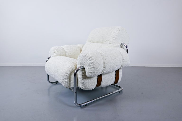 """Pair of Italian """"Tucroma"""" Armchairs by Guido Faleschini for Mariani, 1970s 8"""