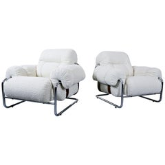 "Pair of Italian ""Tucroma"" Armchairs by Guido Faleschini for Mariani, 1970s"