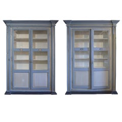 Pair of Italian Two-Door Cabinets