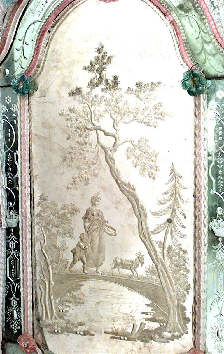 Pair of Italian Venetian Murano '19th Century' Wall Mirrors For Sale 2