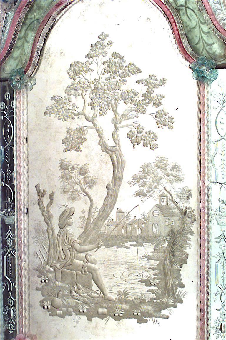 Pair of Italian Venetian Murano '19th Century' Wall Mirrors For Sale 4