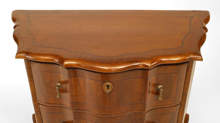 19th Century Pair of Italian Venetian Shaped Bedside Commodes For Sale