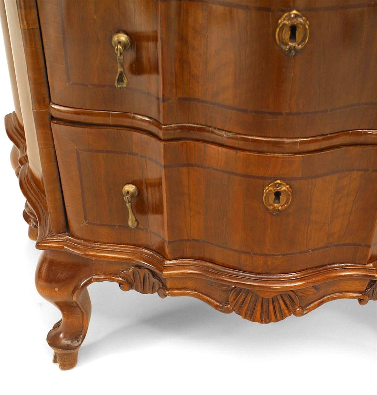 Pair of Italian Venetian Shaped Bedside Commodes For Sale 1