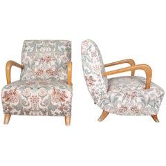 Pair of Italian Vintage Guglielmo Ulrich Style Armchairs, 1950s