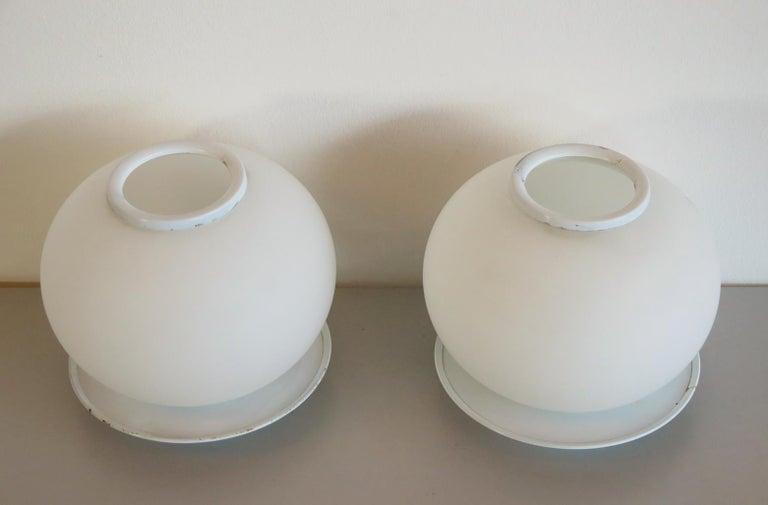 Mid-Century Modern Pair of Italian Vintage Murano Glass Table Lamp, Mazzega