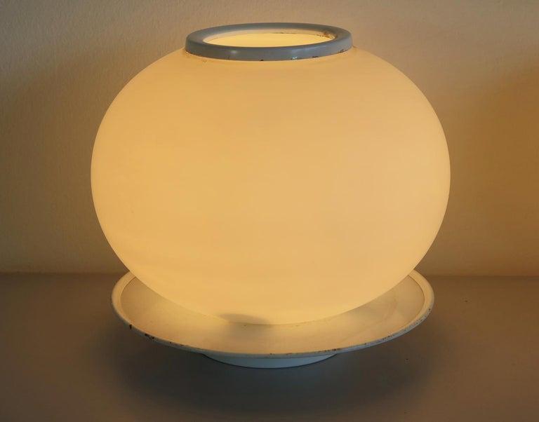 Pair of Italian Vintage Murano Glass Table Lamp, Mazzega In Good Condition In Gaiarine Frazione Francenigo (TV), IT