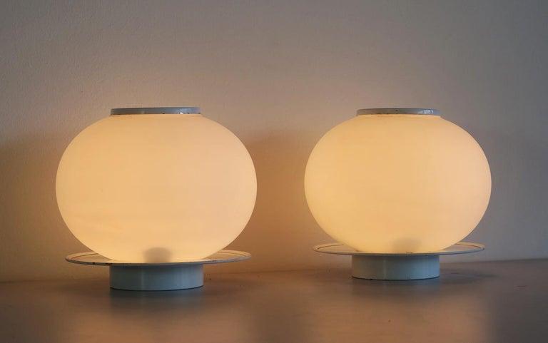 Late 20th Century Pair of Italian Vintage Murano Glass Table Lamp, Mazzega