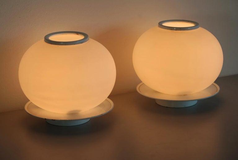 Blown Glass Pair of Italian Vintage Murano Glass Table Lamp, Mazzega