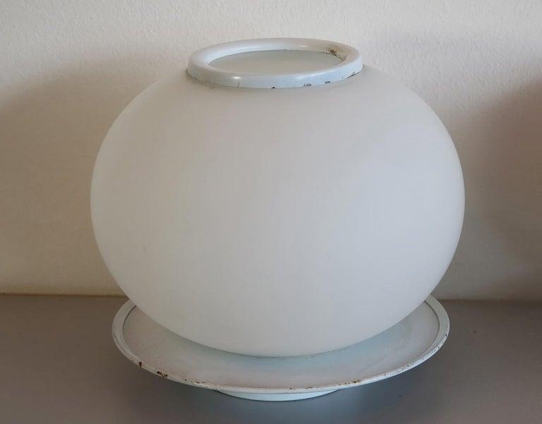 Pair of Italian Vintage Murano Glass Table Lamp, Mazzega 2