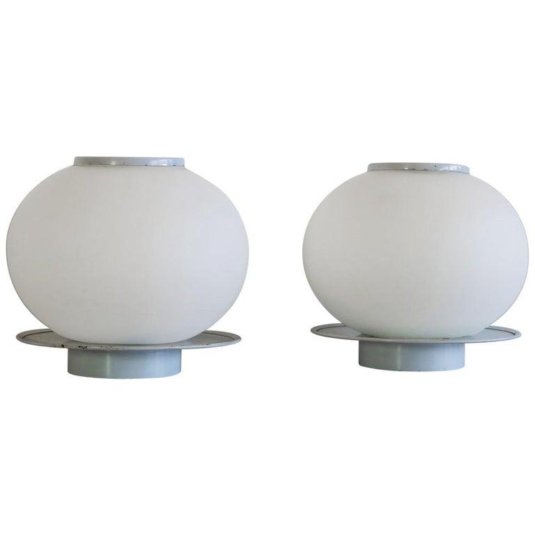 Pair of Italian Vintage Murano Glass Table Lamp, Mazzega