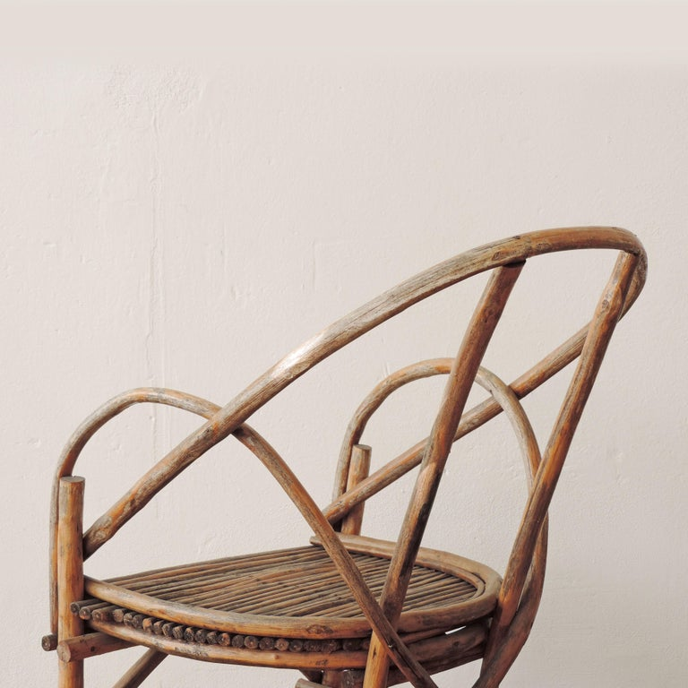Pair of Italian Vintage Tree Branch Armchairs, Italy, 1960s For Sale 4