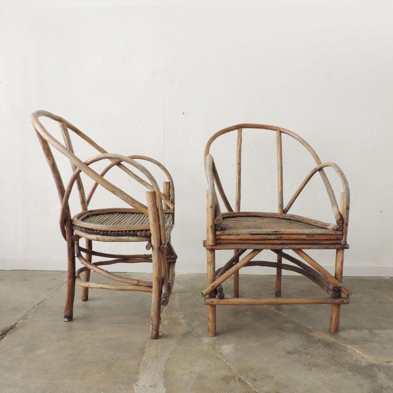Pair of Italian vintage tree branch armchairs, Italy, 1960s.