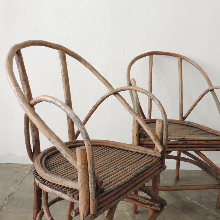 Mid-Century Modern Pair of Italian Vintage Tree Branch Armchairs, Italy, 1960s For Sale