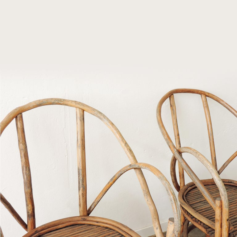 Pair of Italian Vintage Tree Branch Armchairs, Italy, 1960s In Good Condition For Sale In Milan, IT