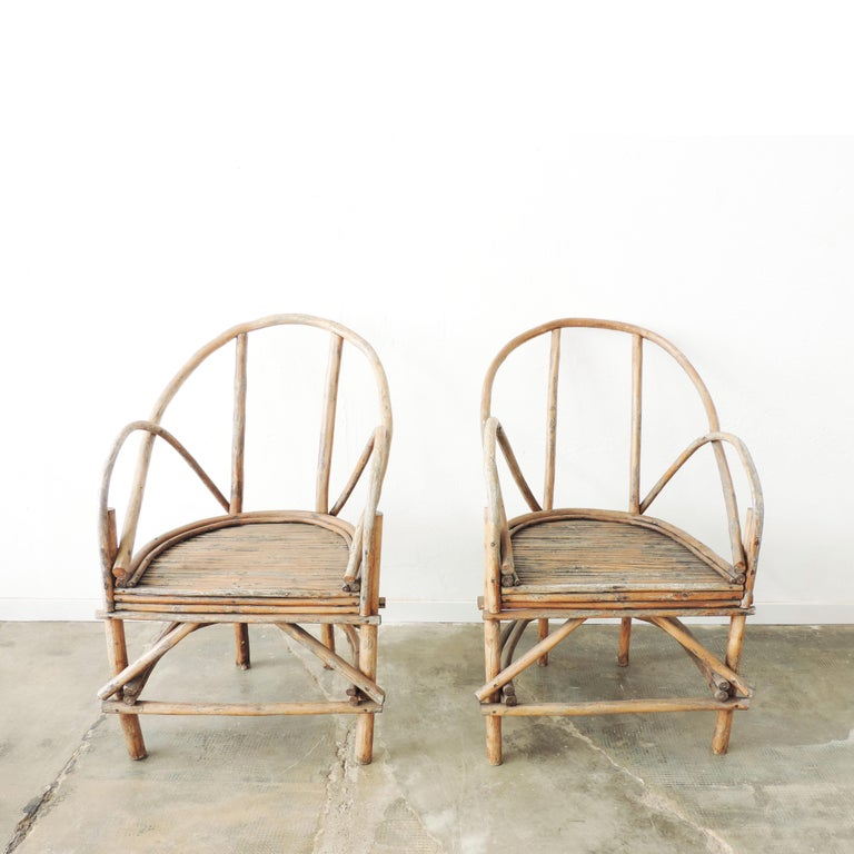 Mid-20th Century Pair of Italian Vintage Tree Branch Armchairs, Italy, 1960s For Sale