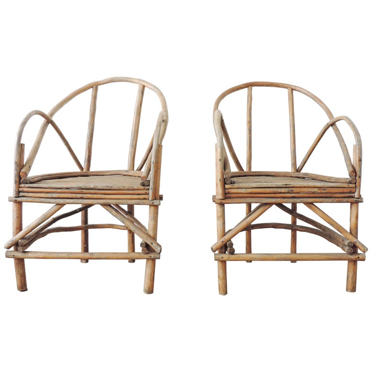 Pair of Italian Vintage Tree Branch Armchairs, Italy, 1960s For Sale
