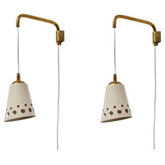 Pair of Wall Lights by Osvaldo Borsani for Arredamenti Borsani Varedo