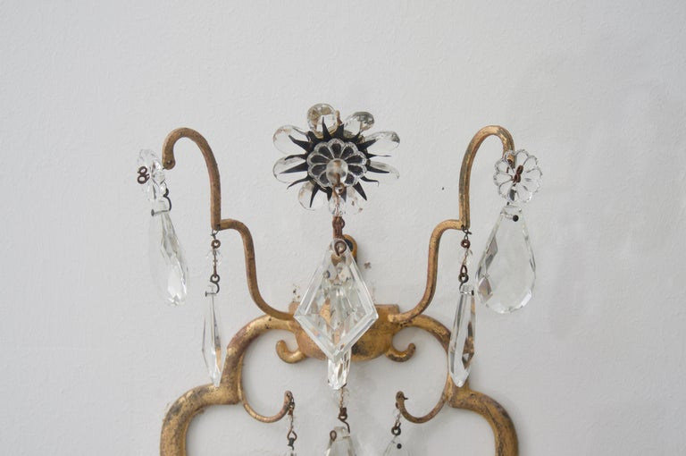 Pair of Italian Wall Sconces In Good Condition For Sale In West Palm Beach, FL