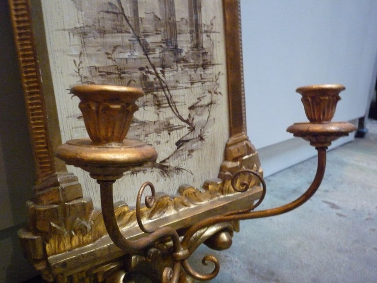 Pair of Italian Wall Sconces For Sale 1