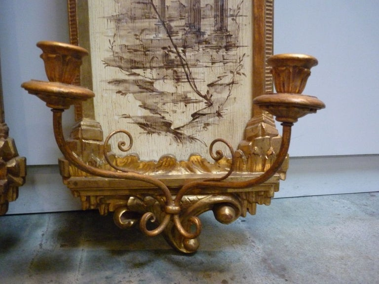 Pair of Italian Wall Sconces For Sale 2