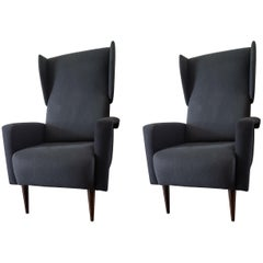 Pair of Italian Wing Chairs
