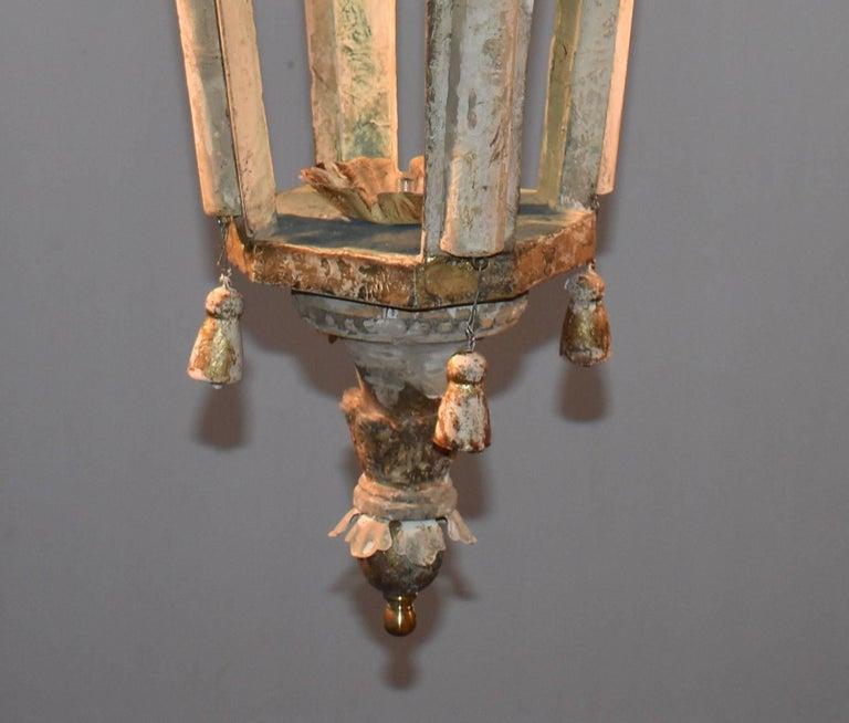 Pair of Italian Wood Church Lanterns  For Sale 1