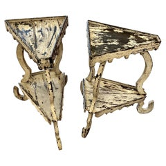 Pair of Italian Wood Plant Stands, 19th Century