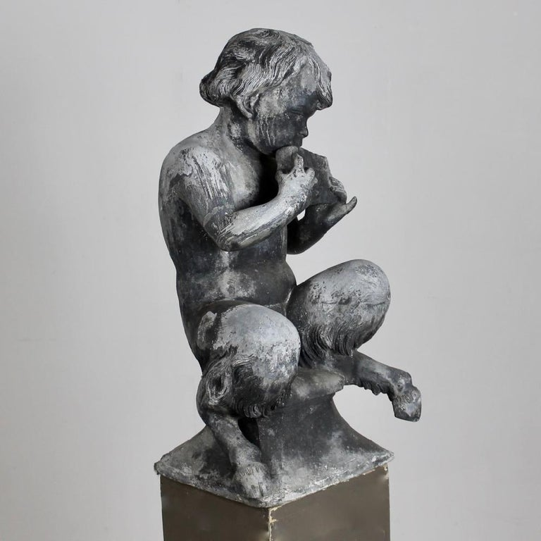 These are two, from an original set of four J P White lead figures of satyr musicians. Both in excellent condition and beautifully weathered.