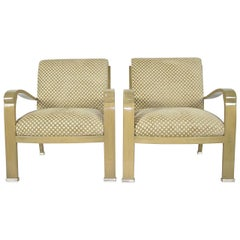 Pair of J. Robert Scott Deco Lounge Chairs