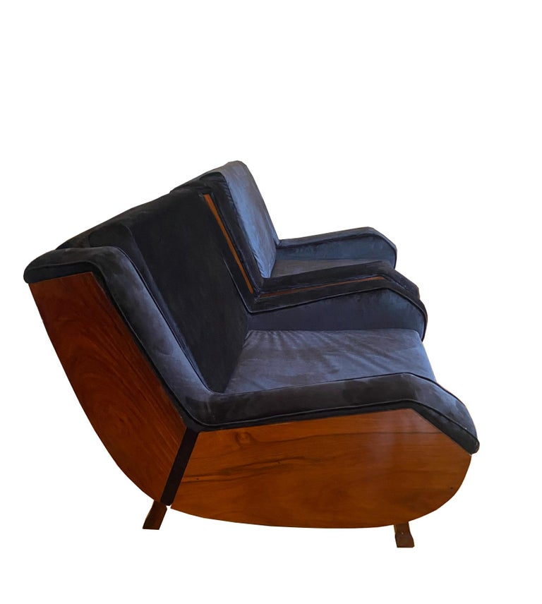 Pair of Jacaranda Armchairs, Italy, 1960s In Good Condition For Sale In Naples, IT