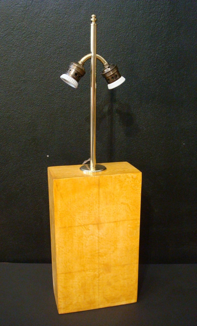 Pair of Jacques Adnet Parchment Leather Table Lamps, France, circa 1930s For Sale 2