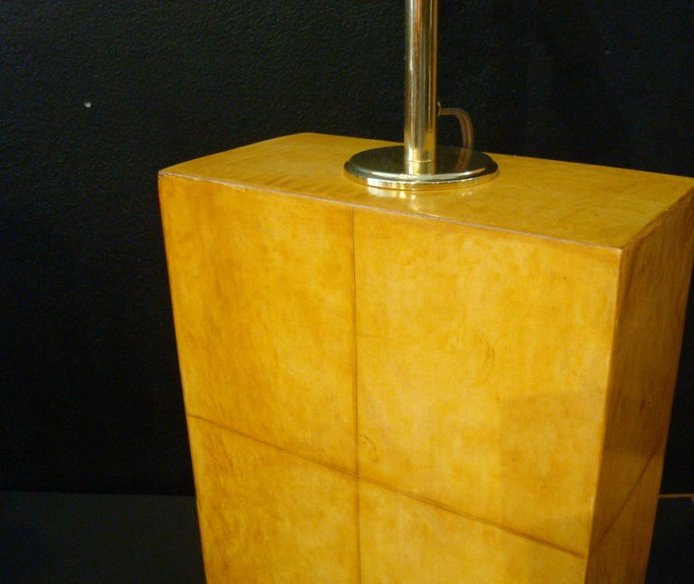 Pair of Jacques Adnet Parchment Leather Table Lamps, France, circa 1930s For Sale 1