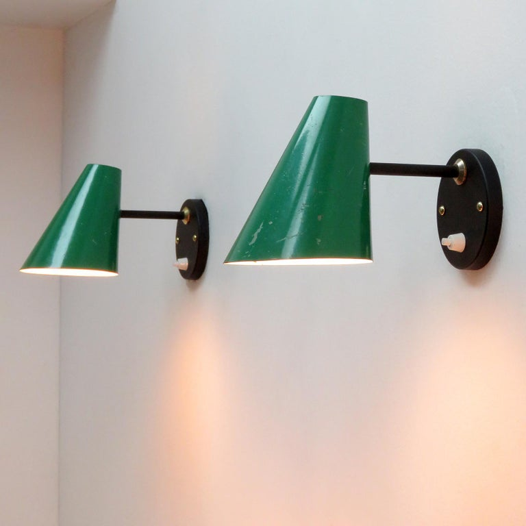 Pair of Jacques Biny Wall Lamps, 1950 For Sale 2