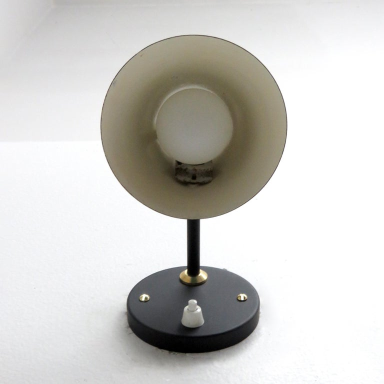 Mid-20th Century Pair of Jacques Biny Wall Lamps, 1950 For Sale