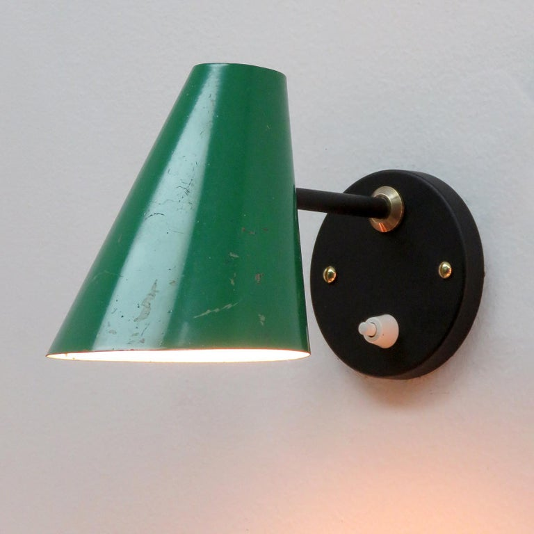 Pair of Jacques Biny Wall Lamps, 1950 For Sale 1