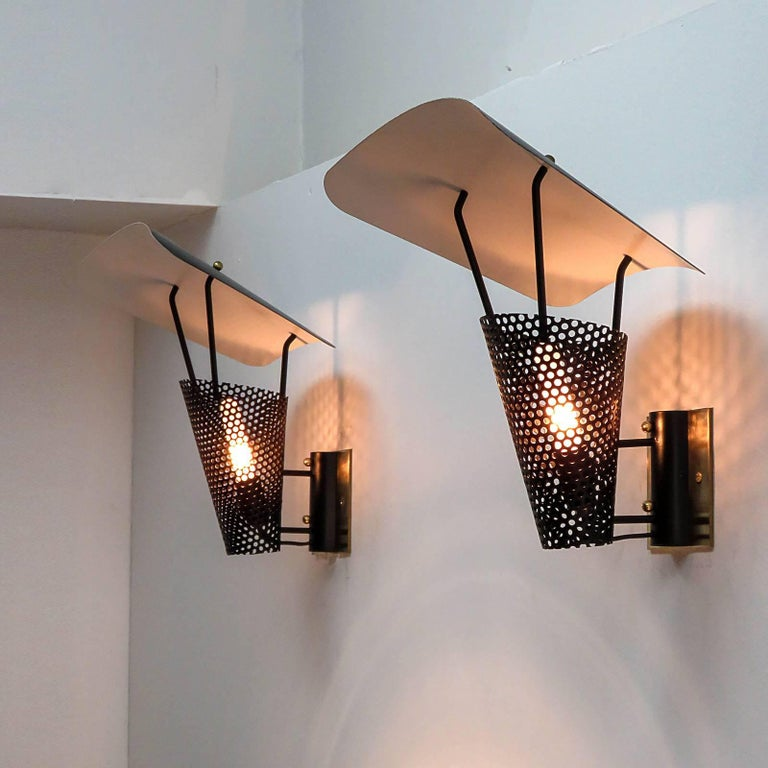 Pair of Jacques Biny Wall Lights, 1950 For Sale 2